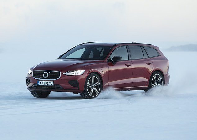 Ice masters: Volvo's V60 estate range can easily handle arctic conditions