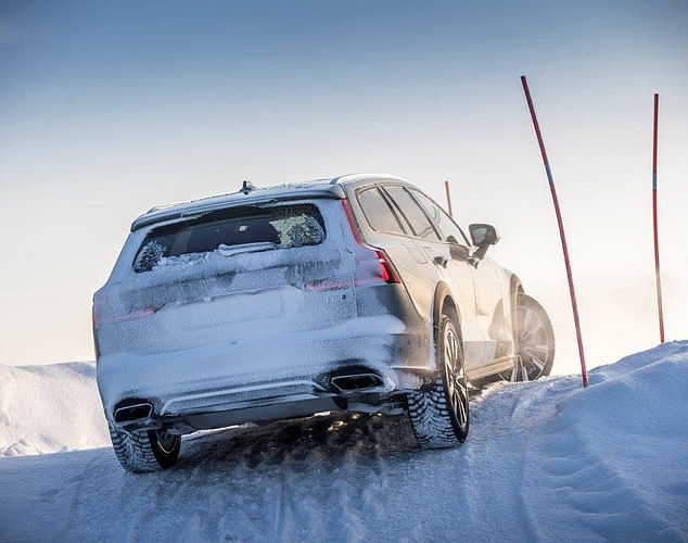 Geared up: The Volvo V60 Cross Country has an eight-speed automatic gearbox, which has an extra 60mm of ride height over the standard estate