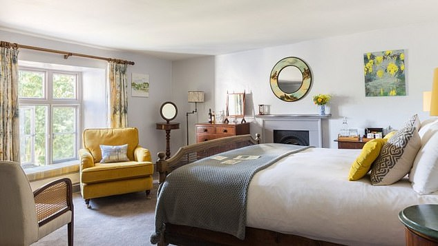 Spacious: Pictured is one of the bedrooms at The Bell at Skenfrith