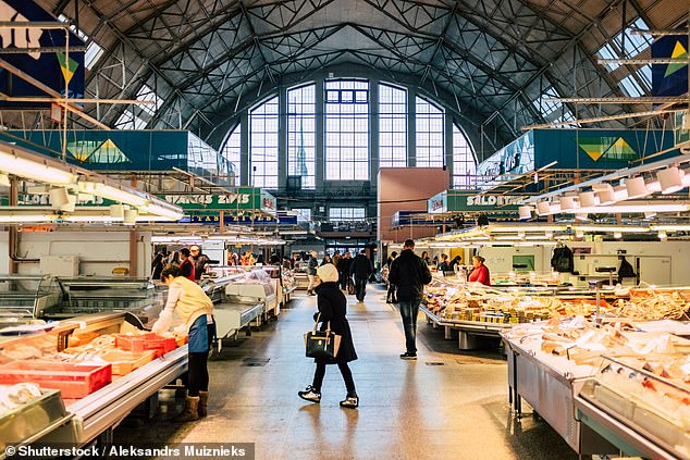 Spoilt for choice: The cavernous Central Market, home to 1,200 stalls