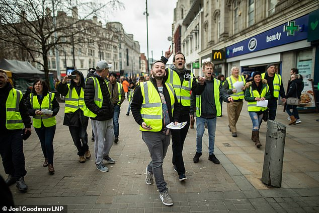 The yellow vest group in the UK have been inspired by weeks of nationwide anti-austerity demonstrations by the 'gilets jaune' movement in France