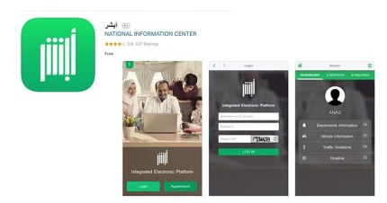 The Absher app is run by the Saudi government and has been downloaded more than one million times so far