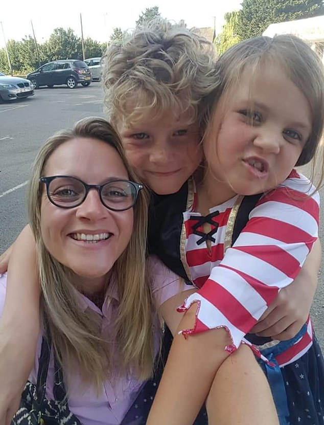 Holly (pictured with son Max, nine, her daughter Matilda, six) says that following her second time on the plan, which she began in October, Holly said she isn't on any herbal medicines and hasn't yet seen signs of any of her symptoms