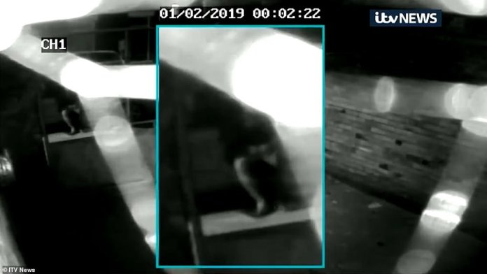 CCTV footage of where Libby Squire was last seen shows a man rolling a cigarette before he drives away