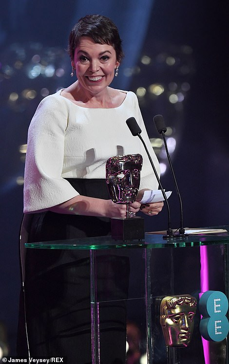 Overjoyed!Olivia Colman was delighted as she took home the gong for her sensational display in the critically acclaimed film at the 72nd British Academy Film Awards at the Royal Albert Hall on Sunday evening