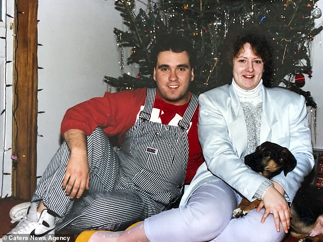 Douglass and Billy celebrating Christmas at home. The pair were engaged and married less than two weeks after they met
