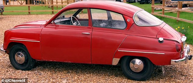 Mark first had the idea for the transformation when he was looking for parts for his cherished collectable 1962 Saab (pictured above)