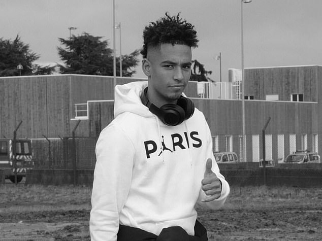 Young German defender Thilo Kehrer was also snapped by the PSG photographers