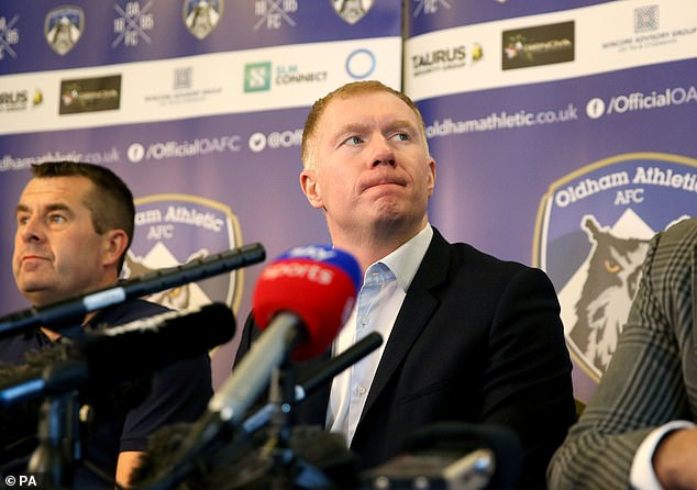 Scholes held his first press conference as Latics manager on Monday afternoon