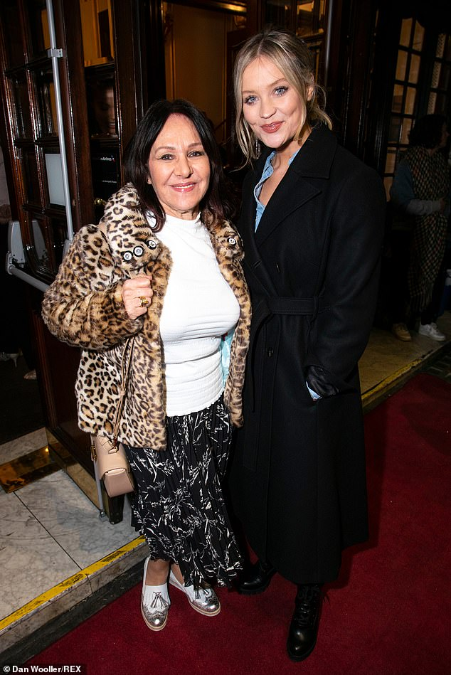 Buddies: Arlene Phillips and Laura Whitmore posed together for a quick snap on the red carpet