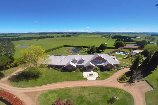 The member for Bennelong charged taxpayers $91 as a 'parliamentary duties' to stay at his eight-bedroom retreat (pictured) at Kangaroo Valley so he could avoid Canberra