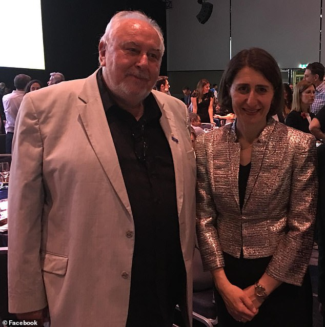 In a scathing open letter, director Peter Noble accused Premier Gladys Berejiklian (pictured together in 2017) of being 'hell-bent' on destroying festivals