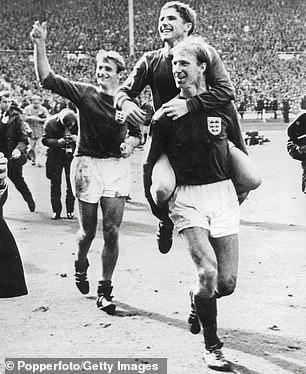 The great Jack Charlton celebrating in 1966