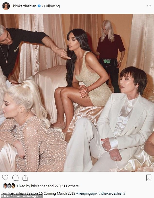 Back for more:Keeping Up With The Kardashians is on its 16th season. And on Tuesday Kim  plugged the series' March 31 return with her 127m Instagram followers