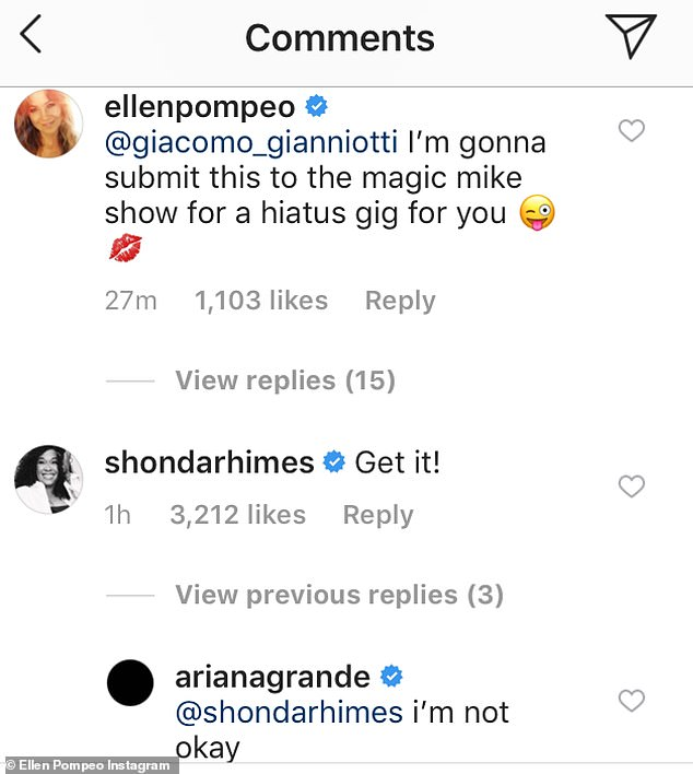 Ariana Grande loses her cool when Ellen Pompeo lip syncs and