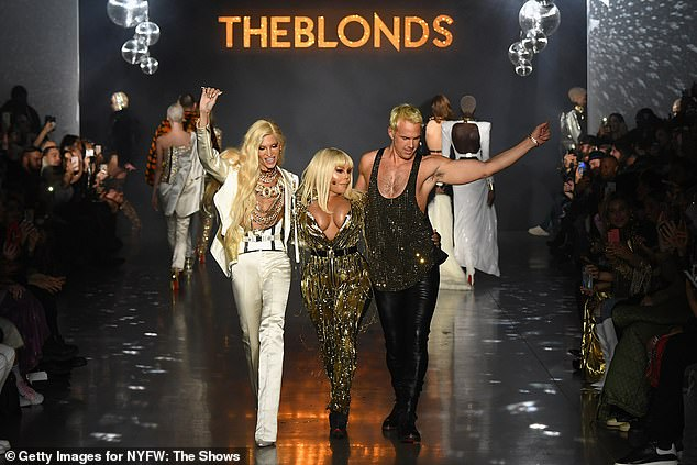 Stylish: The Crush On You hitmaker went braless in the racy number while a thin black belt cinched in her trim midriff