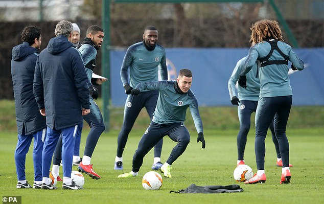 Hazard is expected to start when Chelsea face Malmo in the Europa League on Thursday