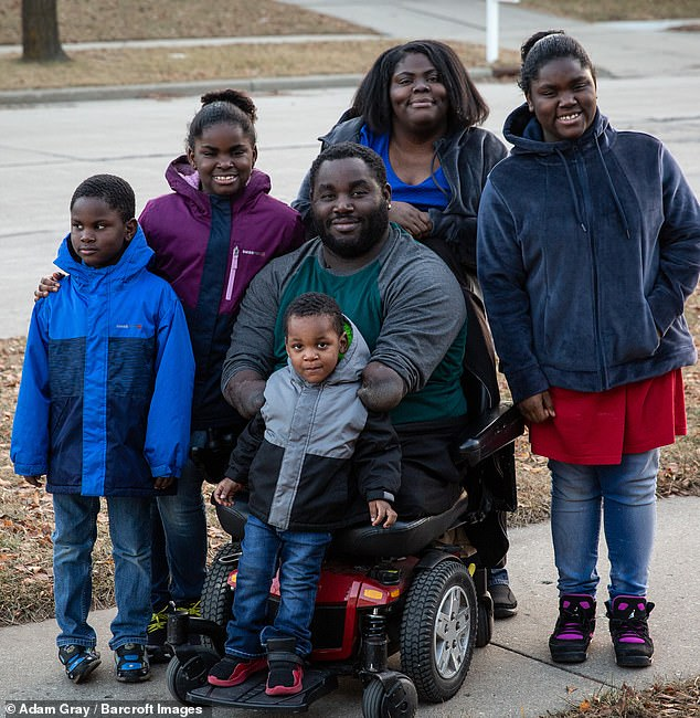 Family love: Joseph said that he wants to give all of his children a stable, two-parent upbringing that he never had when he was growing up