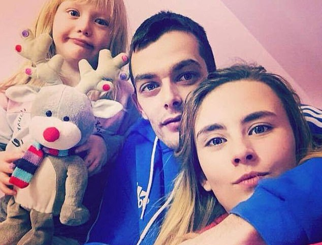 Alesha (left) with Mr MacPhail (centre) and his girlfriend Toni Louise McLachlan (shown right)