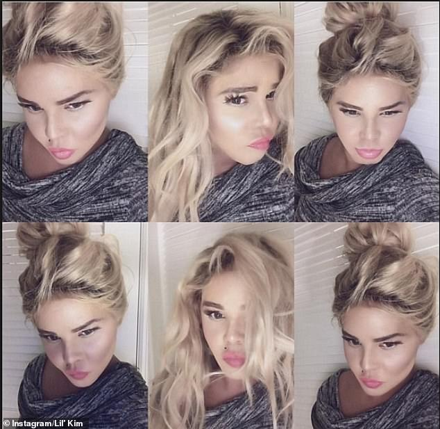 Different look: In 2016, the musician shocked fans as she shared a collage ofphotos in a blonde wig with lighter and taut skin
