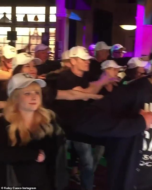 Dance moves:The 33 year old actress also shared yet another video, after the flash mob, revealing that a crew member Facetimed series creator Chuck Lorre so he could watch the flash mob, while on location for a different project