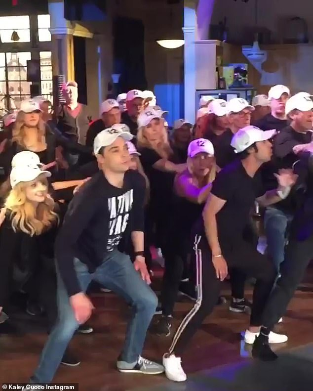 Thanking fans: 'I love this perspective from the audience of my family and friends recording the dance! Thank you @ashleyaubra !!!'