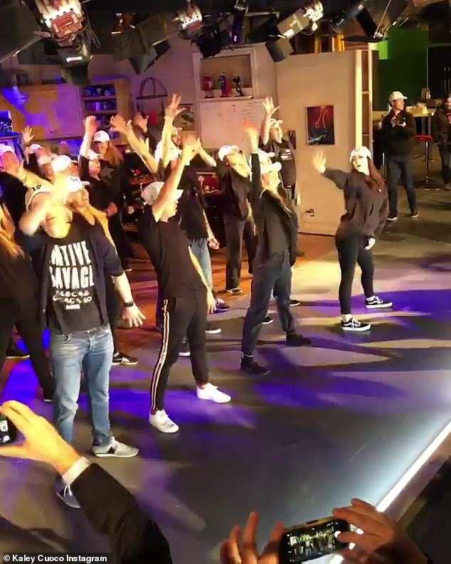 Choreographed Dance: & # 39; Me and the performers and our crew spent the last two and a half months rehearsing a dance by my sister Bri and her friends Elizabeth and Mandy, great dancers, for Larger Than Life of The Backstreet Boys, the actress, choreographed, was continued