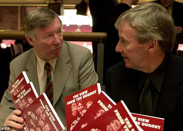 Pictured with Sir Alex Ferguson at the launch of his autobiography back in March 2001