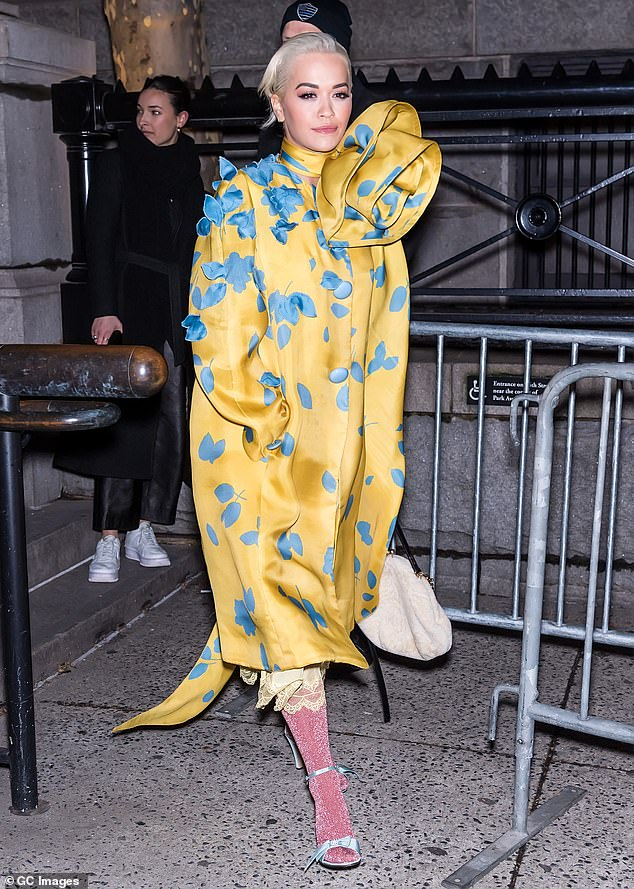 Statement: Rita pictured leaving the Marc Jacobs fashion show in New York City