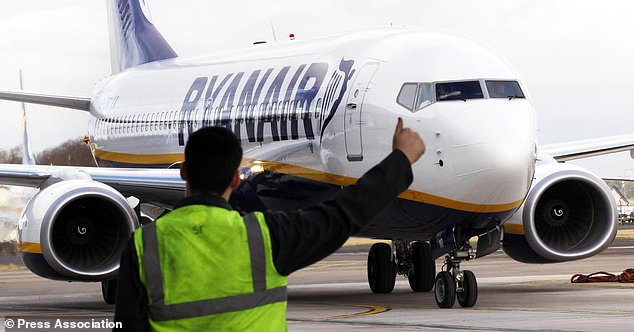 A Ryanair flight from Glasgow to Spain had to be diverted last night after a fight is said to have broken out on board (file picture)