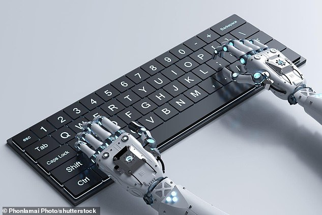 A chilling opinion piece written by a robot for The Guardian reveals how far intelligent machines have come, and how convincing they can be (stock)