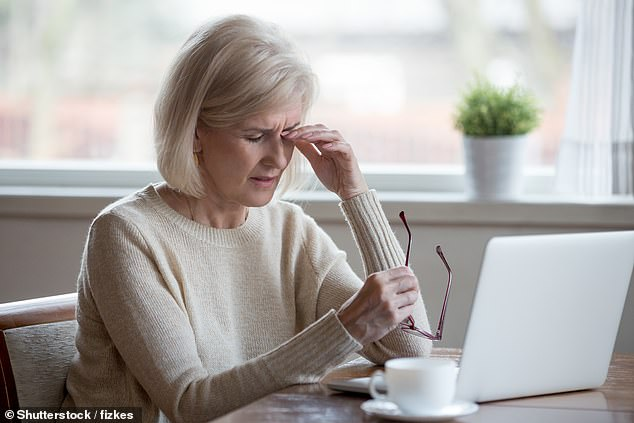 Age-related macular degeneration (AMD) affects 600,000 people in the UK. Ideally, ideally, gene therapy would only have to be done once, as the effects are considered permanent [File photo]