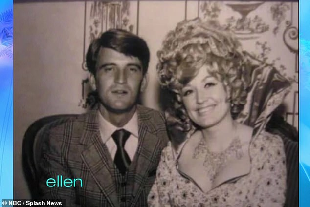 Her love: Dolly pictured with Carl in an unknown throwback shot (date unknown)