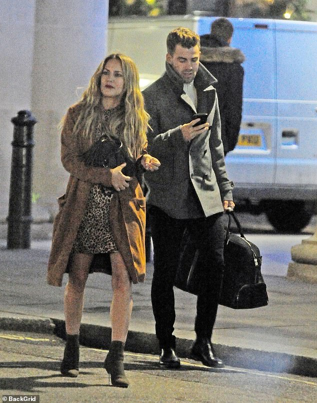 Rumoured love interest: Caroline, 39, is rumoured to be dating personal trainer Bradley following her tumultuous romance with ex-fiancé Andrew Brady, and the pair were spotted on a date