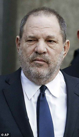 Embattled: Weinstein was snapped in December leaving court in NYC