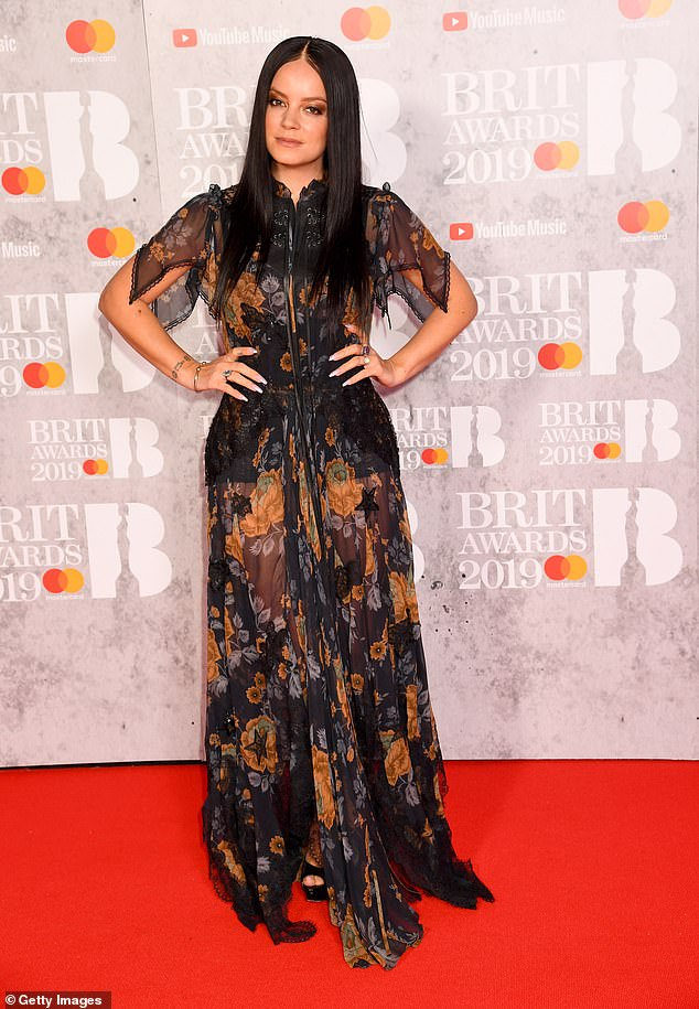 BRITs 2019 nominee Lily Allen dazzles in semisheer floral