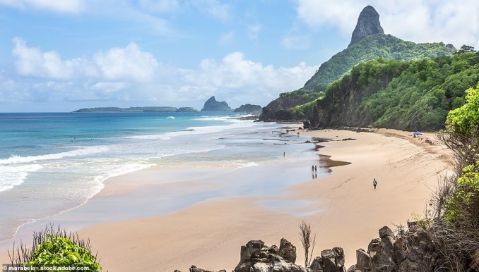 Baia do Sancho, on the isle of Fernando de Noronha, was named the best beach in the world by TripAdvisor in 2017 but it slipped to second place last year. Now it has regained its title, and it came out on top of the Travellers' Choice Beach awards 2019. The remote beach boasts crystal clear waters - ideal for diving - and panoramic cliff-tops offering views of dolphins splashing in the bay. It has a 91 per cent 'excellent' rating on TripAdvisor and one traveller simply summed it up as being 'paradise', adding: 'This was truly a view I will never forget in my life. Such a beautiful and extraordinary place. You cannot describe in words the beauty of it. Magical!'
