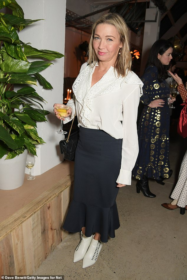 Fashion editor Jess Cartner Morley was snapped in a stylish white pair of the shoe