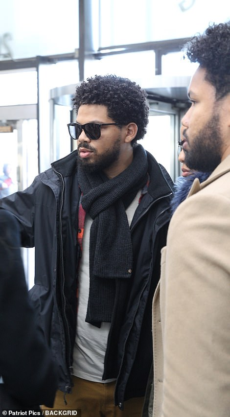 Jocqui, Jake and Jazz Smollett arrive at theCook County Criminal Court on Thursday to attend their brother Jussie's bond hearing. There was no sign of the actor's mother Janet, his other sister Jurnee or his brother Jojo