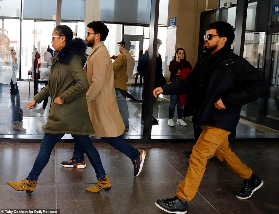 Jazz, Jocqui and Jake entered the courthouse without speaking on Thursday. Their other two siblings, Jojo and Jurnee, did not join them