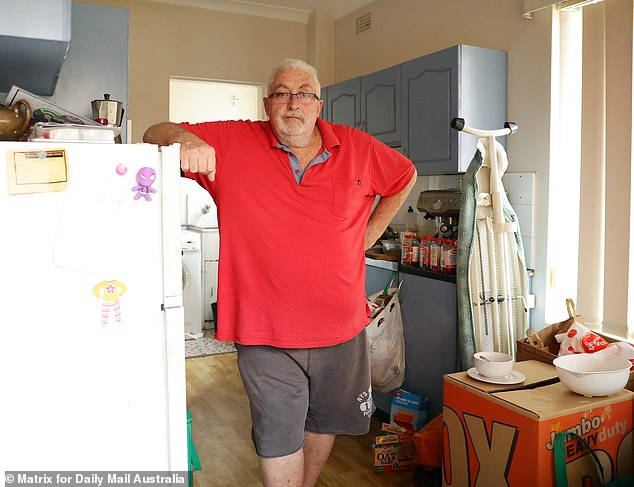 Former banker David Boyd receives $1,050 a fortnight from Centrelink and lives in a cramped two-bedroom unit with his 10-year-old daughter Kali. After paying rent, internet and mobile phone bills, as well as medicine for them both, Mr Boyd has been left with just $75 a week