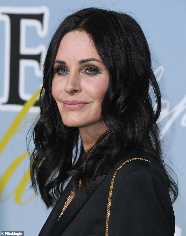 Looking good: Courteney also recently revealed that she has stopped trying to reverse the aging process