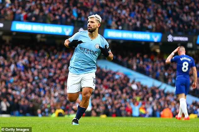 Last time City and Chelsea met Sergio Aguero helped himself to three goals in a 6-0 thrashing