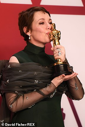 Sweet: Olivia Colman tasted first Oscar gold with Best Actress win for The Favourite
