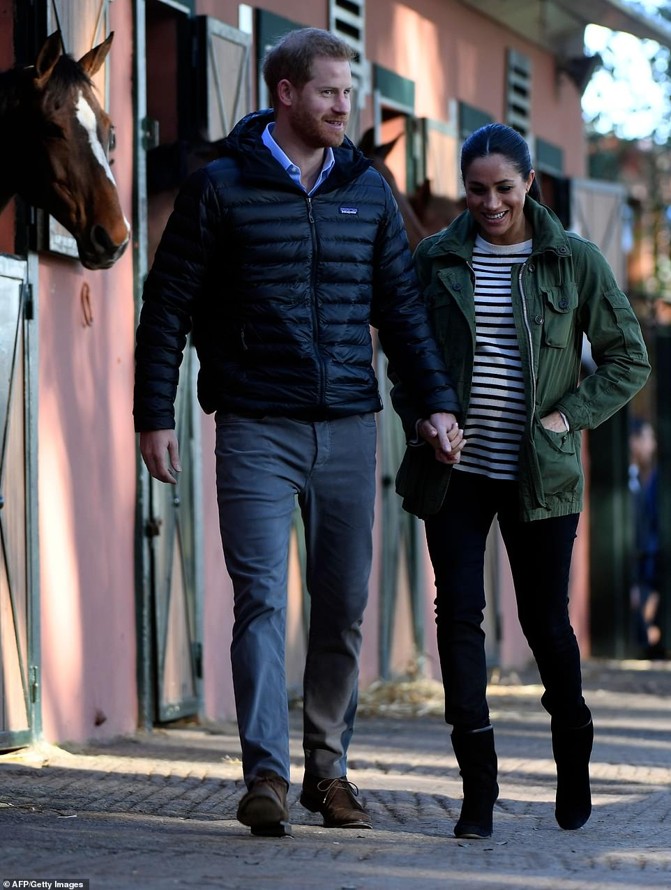Meghan chose to recycle a J Crew jacket that she had been seen wearing in her early days of dating Prince Harry