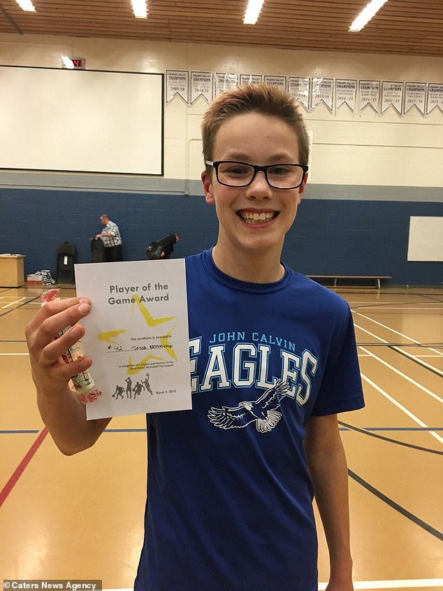 Jacob is an avid basketball player which he worried would be affected by his cancer