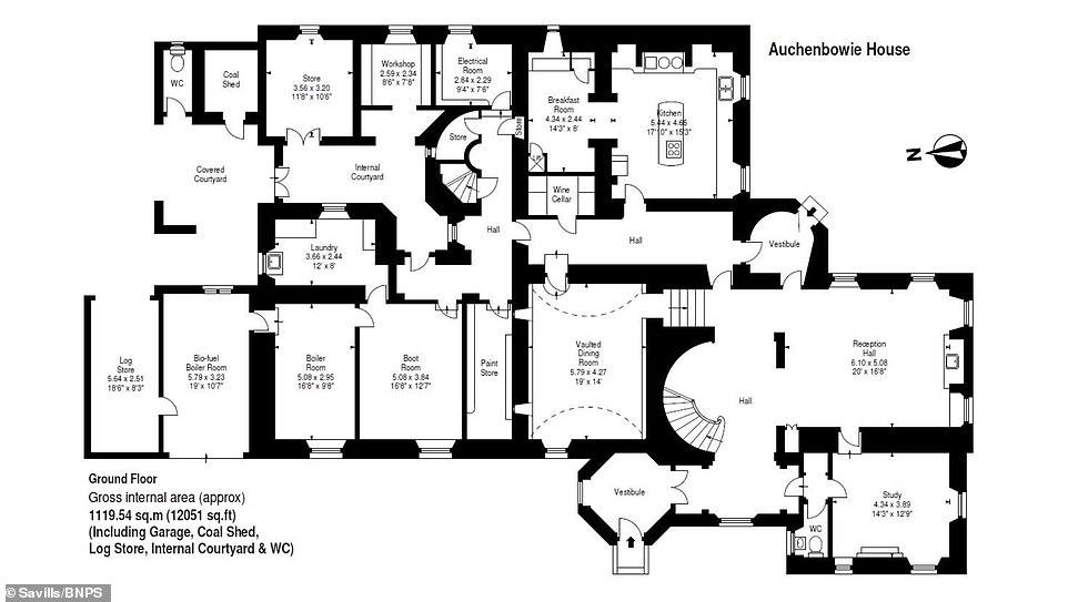 Scottish 17th century mansion where Robert Burns and