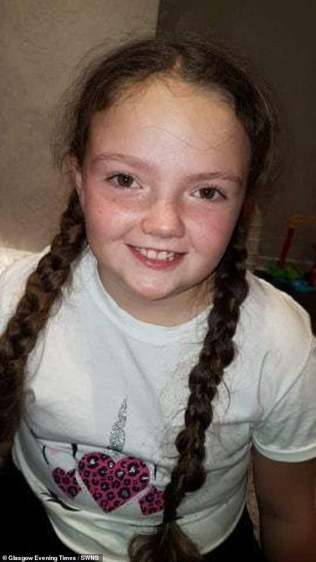 Pictured before she was diagnosed,Kaiann's mother SharonMcalister claims she felt 'fobbed off' by doctors who dismissed her symptoms as muscular pain or a virus. She decided 'enough was enough' whenKaiann came out of school one day sobbing and bent over