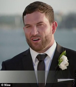 'She's not the type I would speak to at a bar': Married At First Sight's Daniel Webb [pictured] admitted he wasn't instantly attracted to 'bride' Tamara Joy