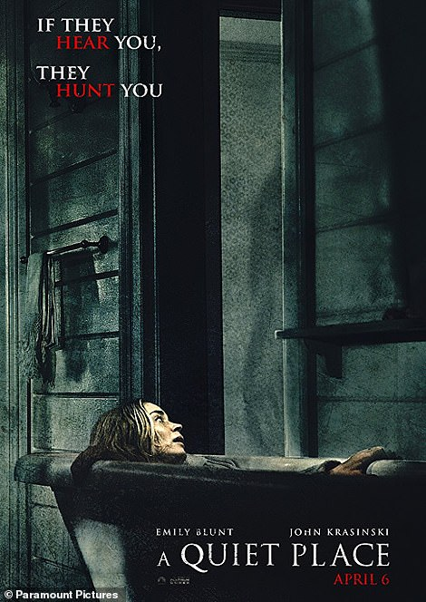 A whole new concept:The movie poster for A Quiet Place is incredibly creepy, but Maxine's spin on it — A Splashy Place — is downright adorable